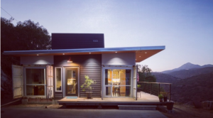 California Container House on a Canyon